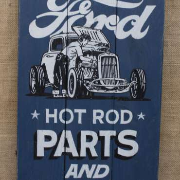 Wooden Ford Sign