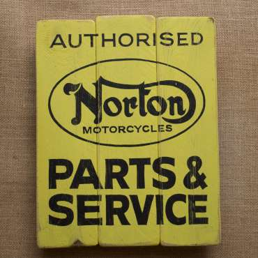 Wooden Norton Sign